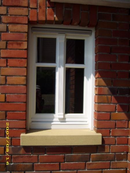 Fensterbank 8cm auf 10cm, 22cm tief – Heidesandstein