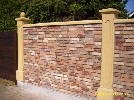 Sandsteinsäule, Säule aus Kunstsandstein 27x27cm 193cm hoch