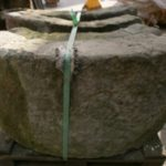 unrestaurierter Rrunnenring aus Sandstein