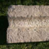 Langer Nasentrog oder Rinnstein aus Sandstein