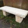 geschmiedeter Tisch mit Sandsteinplatte