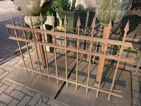 Schmiedeeiserner Zaun ca.15,4m