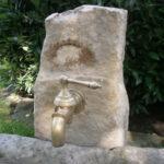 Sandsteinbrunnen mit nur 72cm Höhe