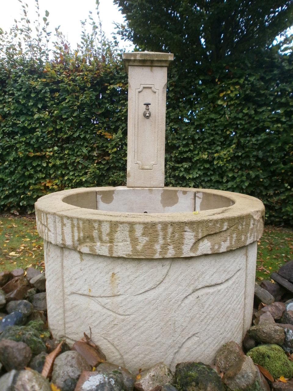 Ringbrunnen, Ausstellungstück mit ein wenig Patina