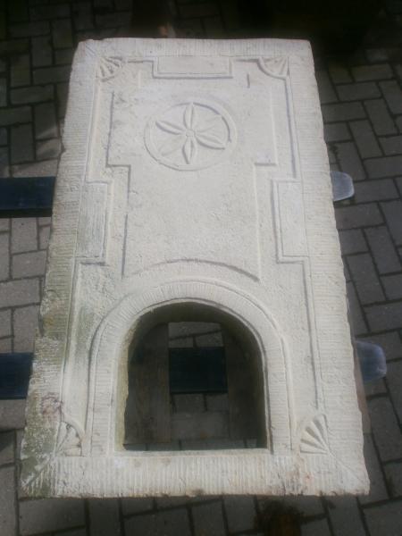 Kaminplatte aus Sandstein antik