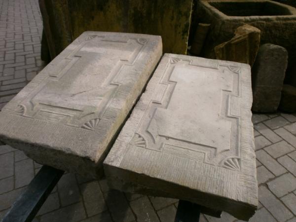 Ein Paar Ofenplatten aus dem Müsterland