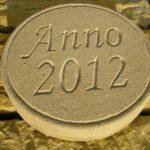 ANNO Stein, Anno 2012, Schlußstein, Jahresstein