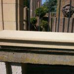 Fensterbank mit Profil aber ohne seitlichen Überstand