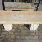 Steinbank aus Naturstein bis 140cm Länge