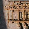 Schmiedeeiserner, niedriger Zaun, nur 40cm hoch