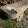 antike, große Sandsteinbank